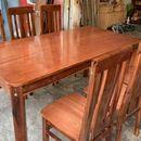 bộ bàn ăn 6 ghế gỗ kiểu nhật sang đẹp