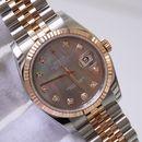 Đồng hồ Rolex Date Just 116231 Demi vàng hồng 18k, mặt trai tím size 36mm