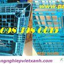Pallet nhựa 1100x1100x150 Xanh