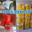 Thùng chở hàng sau xe máy, thùng nhựa ship hàng loại nhỏ, thùng giao hàng giá rẻ