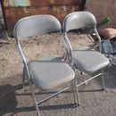Thanh lý 2 ghế xếp văn phòng chân inox cũ giá rẻ