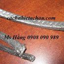 Dây tết chèn chịu nhiệt tẩm chì   Dây Amiang vuông tẩm chì màu đen   Cách nhiệt Á Châu