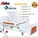 Giường bệnh chạy điện cao cấp đa chức năng Akiko A89-02 có bô, bàn ăn, chậu gội đầu