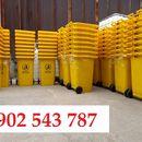 Thùng rác 240 lít y tế màu vàng dùng trong bệnh viện dã chiến