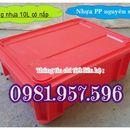 Thùng nhựa B7, thùng nhựa đặc có nắp, sóng nhựa đặc có nắp