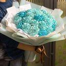 Bó hoa giấy xoắn xanh
