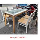 Bộ bàn ăn 4 ghế gỗ cũ giá rẻ