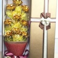 Bó hoa hồng dát vàng 24k Bó hoa hồng dát vàng Bó hoa hồng dát vàng đẹp nhất Hà Nội