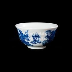 Bộ đồ ăn thờ cúng gốm sứ Bát Tràng Long Phụng Chầu Nguyệt