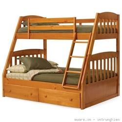 Giường 2 tầng cho bé, giường tầng trẻ em gỗ tự nhiên tại tphcm