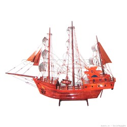 Mô Hình Thuyền Gỗ Thái Lan 60cm Gỗ Tự Nhiên