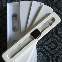 Bán Apple Watch Sport 42mm Hồng Không Dùng Nguyên Hộp Mới Tình, Còn bảo hành chính hãng 1 đổi 1 Fpt