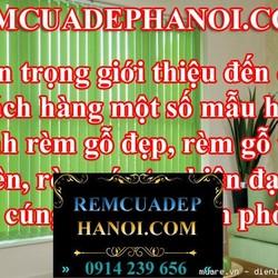 Rèm gỗ đẹp hiện đại giá rẻ nhất Hà Nội